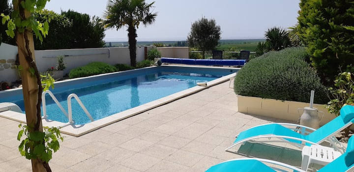 Le Panorama*** vue estuaire piscine salle de sport