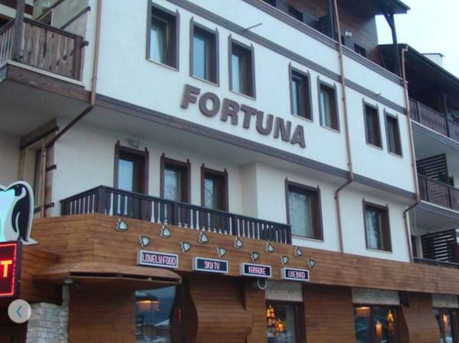 Fortuna apartments, view from the street