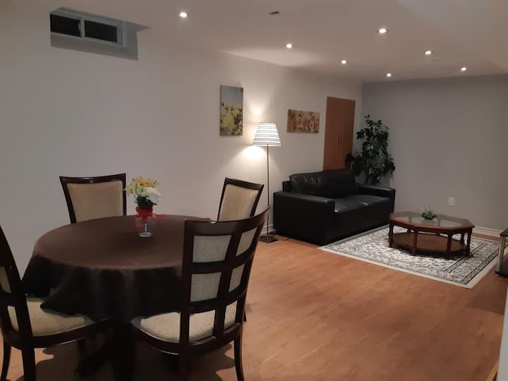 Cozy Basement room, Close to Airport