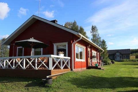 Tunnelmallinen talo Kemijoen rannassa