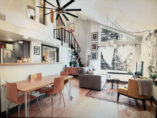 Hip, Whimsical Boulder Reservoir Treehouse Condo