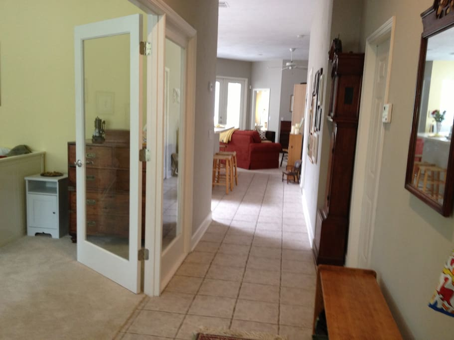 Front hallway, with guest room/office to left