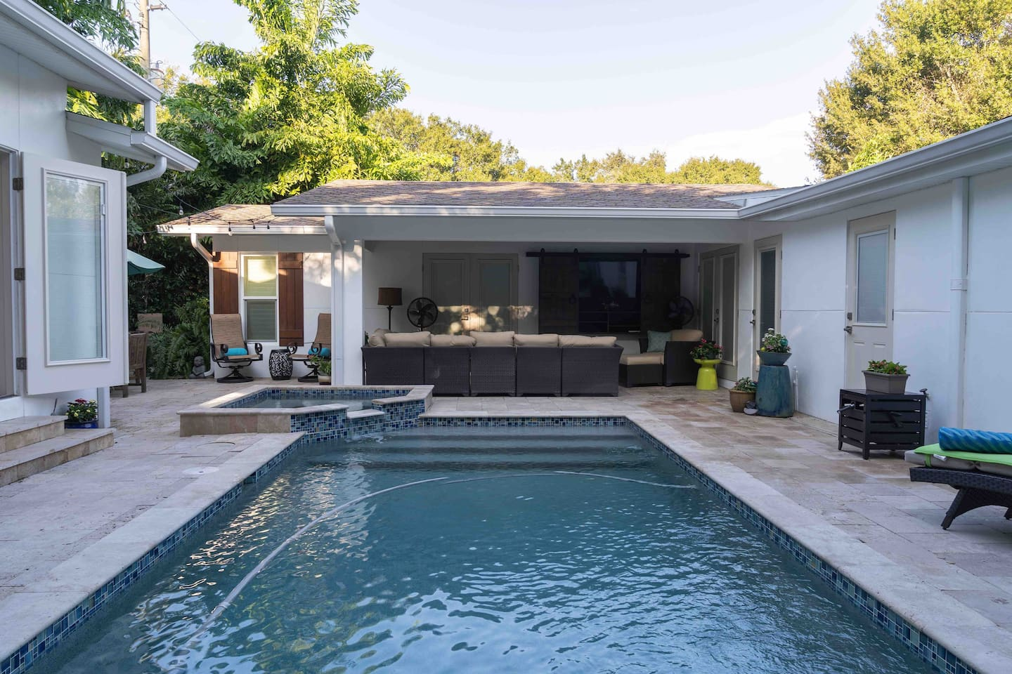 Float in the Pool or Relax in the Seating Area