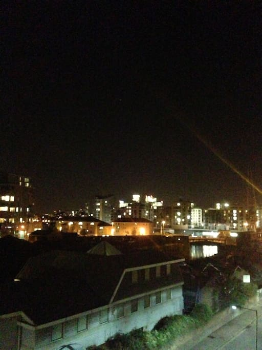 night view towards the thames