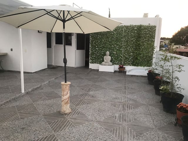 Buddha  roof garden