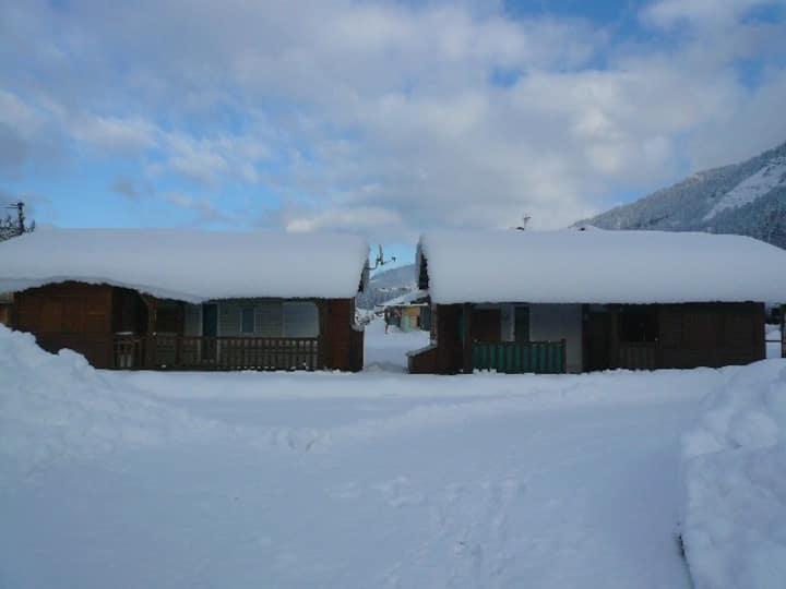 location au centre du domaine skiable