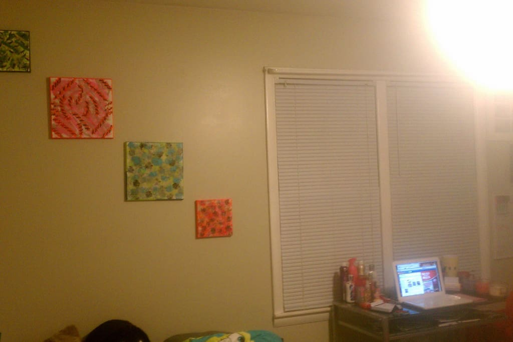 This is just an example of how I decorated the room