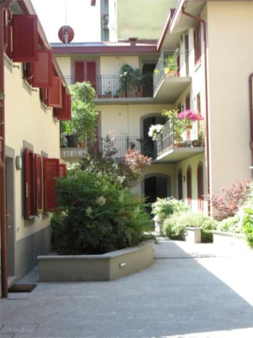 my/your home in a nice courtyard