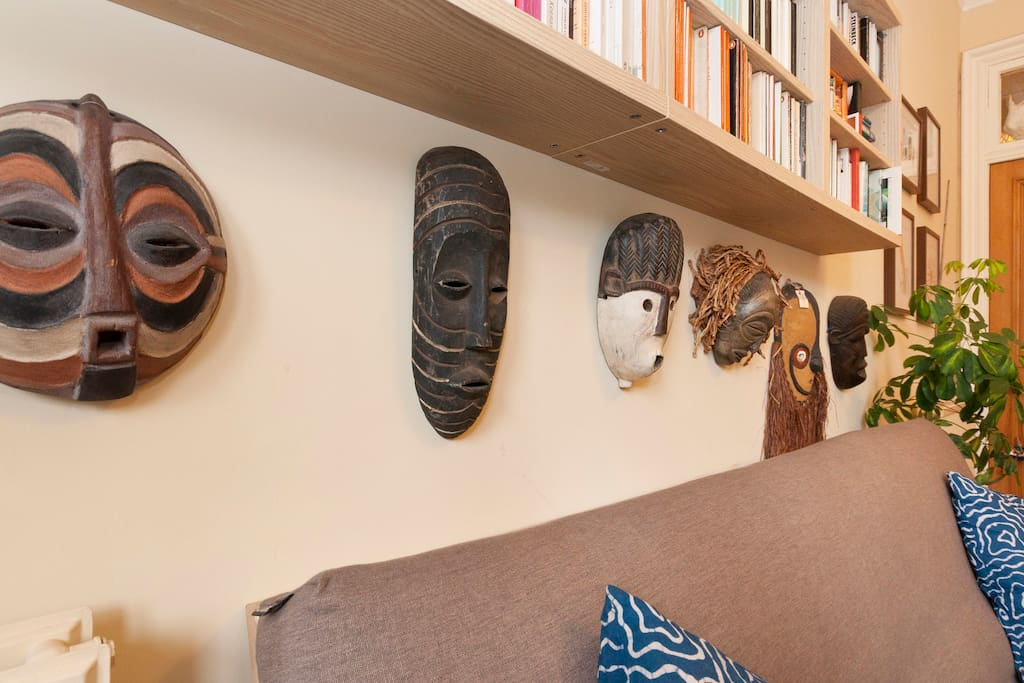 Our African mask collection.