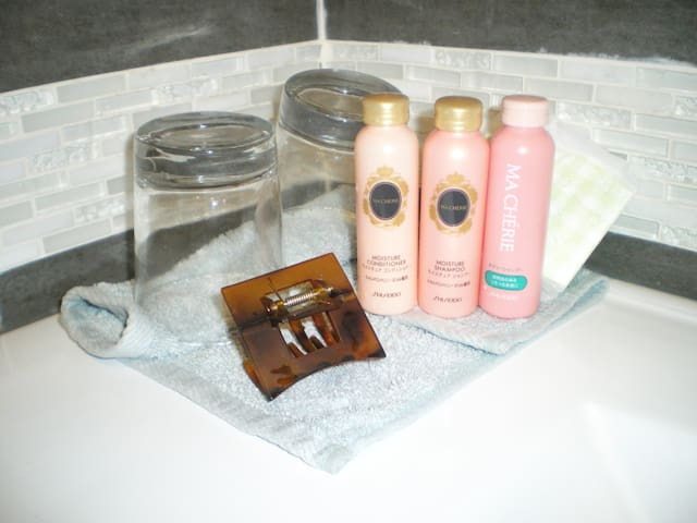 Provide bath supplies with towels in each suites