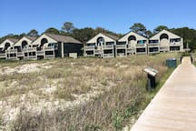 Boardwalk from Pelican Beach - 3rd building from right