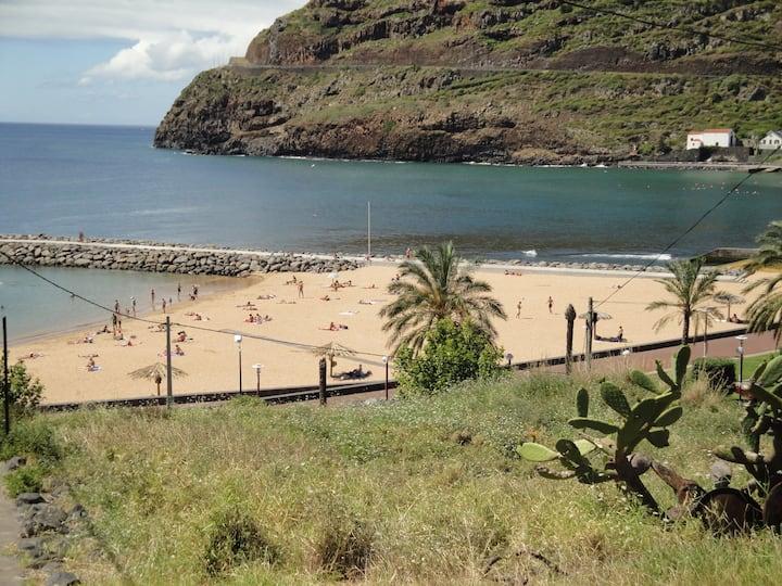 Casa junto á praia