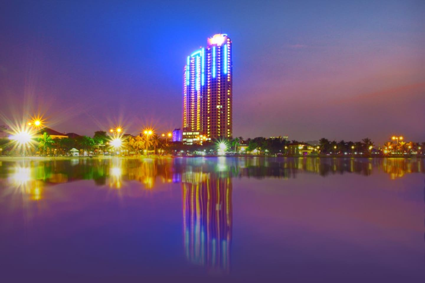 Night view from Ancol