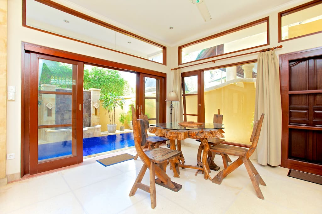 Dining Area Overlooking Pool