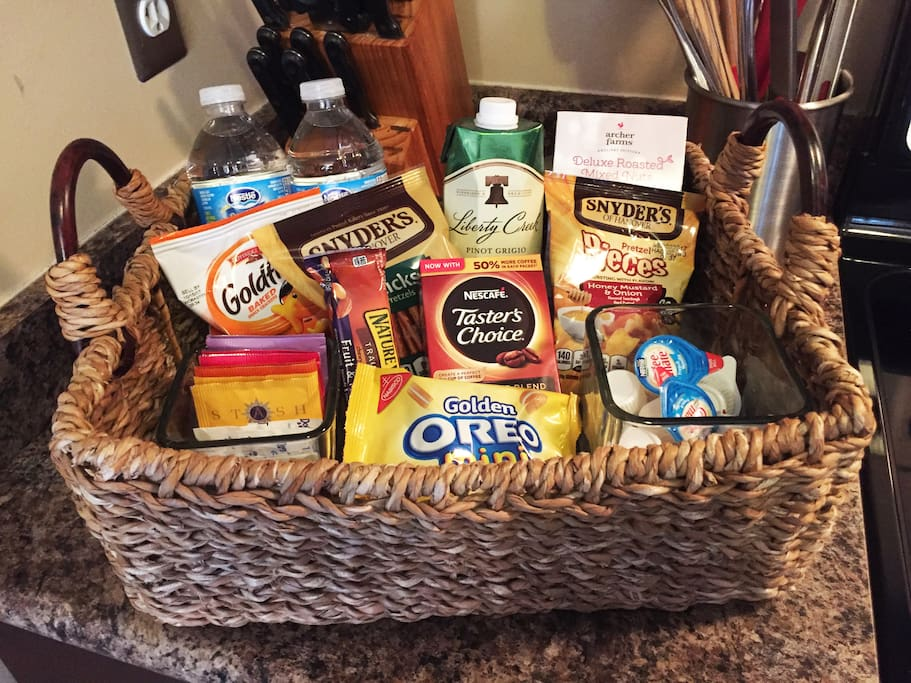 Your welcome basket upon arrival