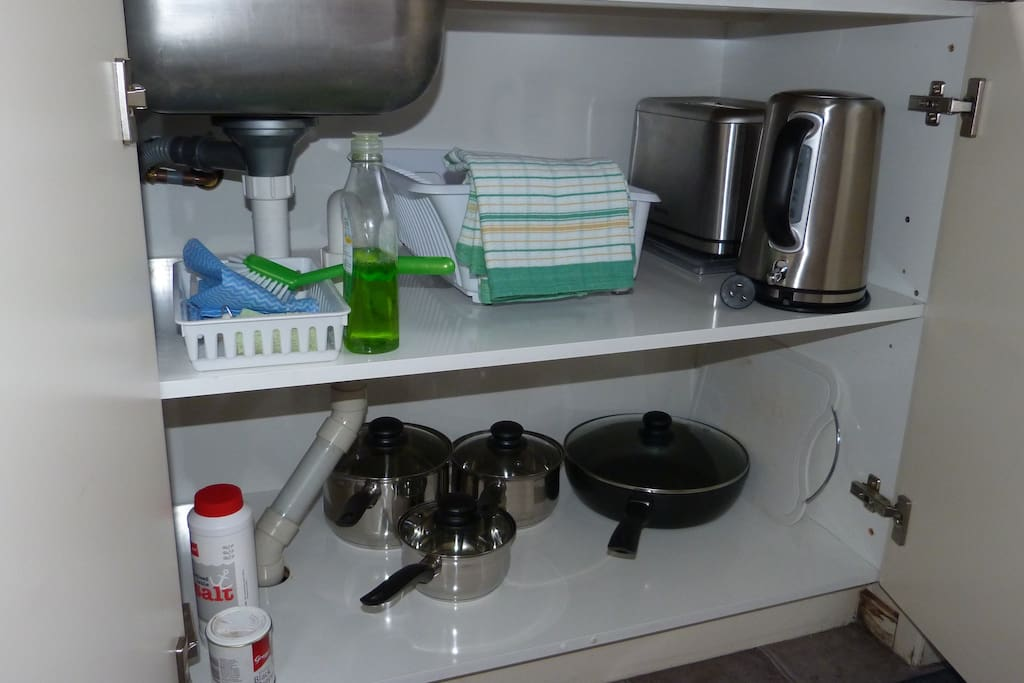 Kitchen equipment available.