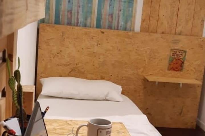 Habitación doble 2 camas separadas en Recoleta