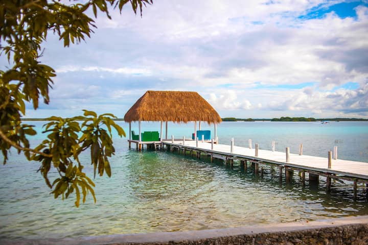 RPB Cozy Cabin with Lagoon Club access #Bacalar