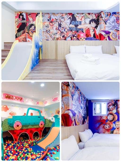 親子房(兩張雙人床可額外加3張單人床) Family room (two double beds and extra three singles beds)