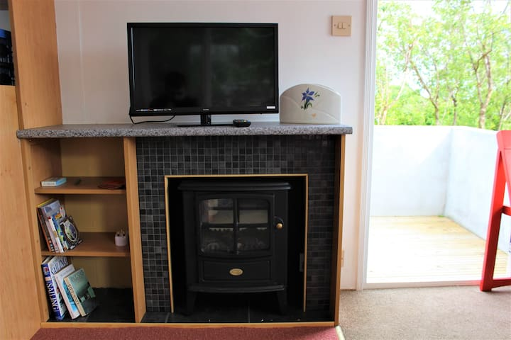 Electric Stove and TV/DVD