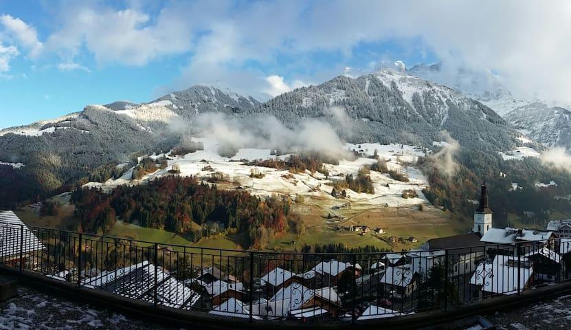 Val-d'Illiez-Chalet avec vue sur les Dents du Midi