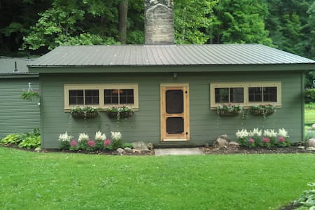 Cabin 60 Acres w/ Pond/Creek/Falls - Wooster - Blockhütte