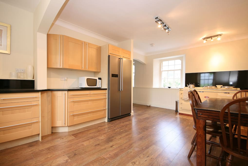 First part of the kitchen - dining and entertaining area.