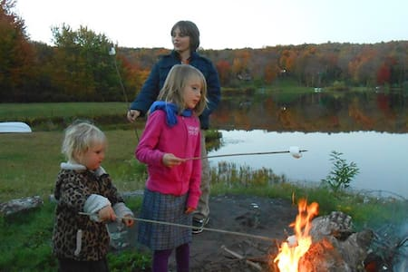 Cozy Campfires Under Starlit Skies - South Kortright - บ้าน