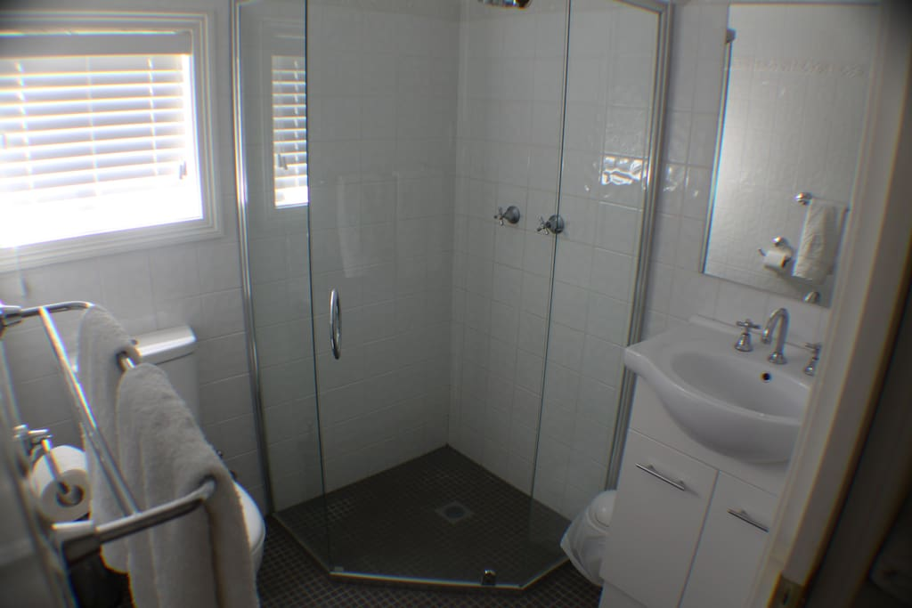 Clean ensuite.  Gowns and slippers supplied to our guests.
