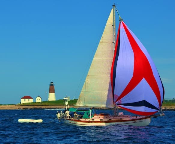 Our sailboat, Journey....upgrade your stay with a half day sail.