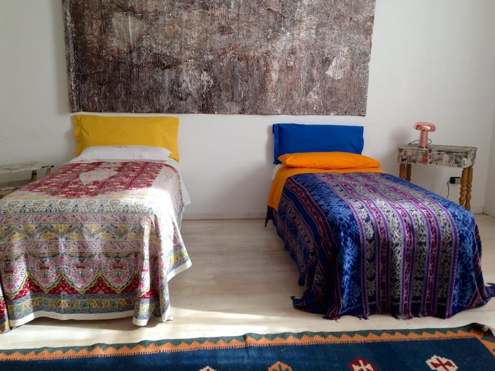 Spacious bedroom in a special loft
