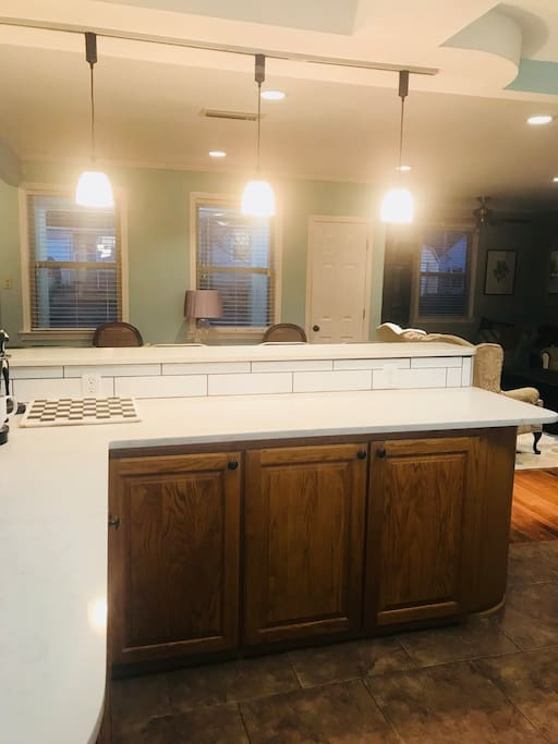 New counter tops in the kitchen