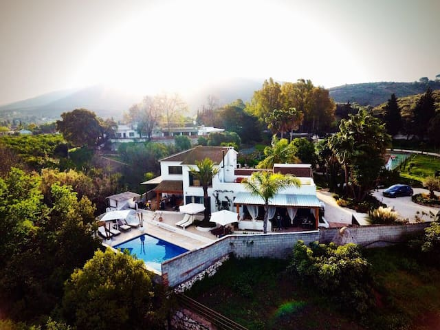 An aerial view of our Finca.