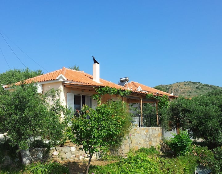 House in village near Koroni with fantastic views
