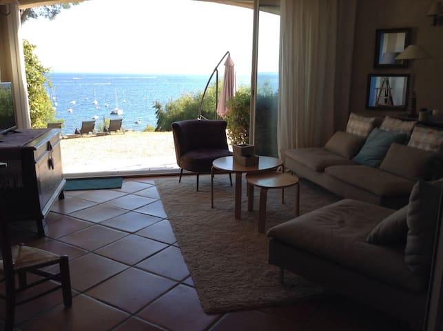 Villa bord de mer, plage à 50m ,vue exceptionelle - La Londe-les-Maures - Villa