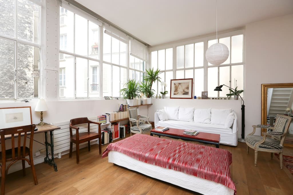 Loft 110m2 canal stmartin parking lofts louer paris le de france france - Achat loft ile de france ...