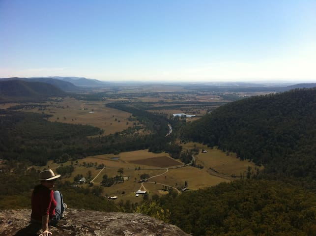 View from the top of the ridge - great bushwalking