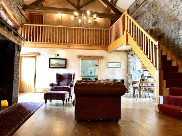 Converted Barn for up to 9 on  Equestrian Farm