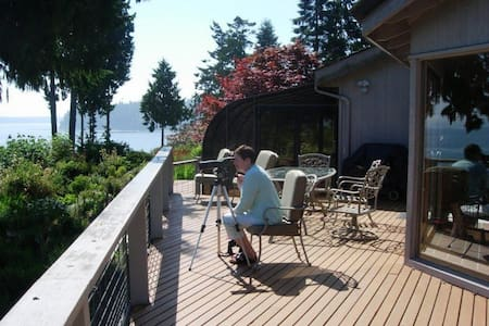 High-Bank Waterfront  Home - Views! - Port Ludlow - House
