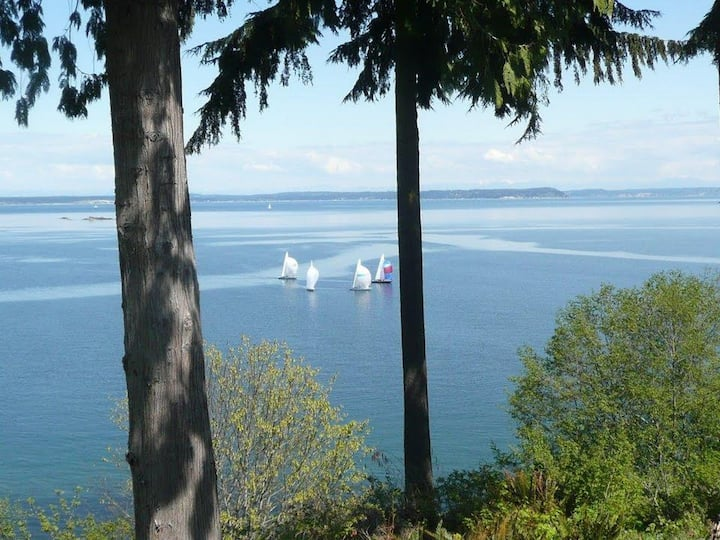 High-Bank Pudget Sound Waterfront  Home - Views!