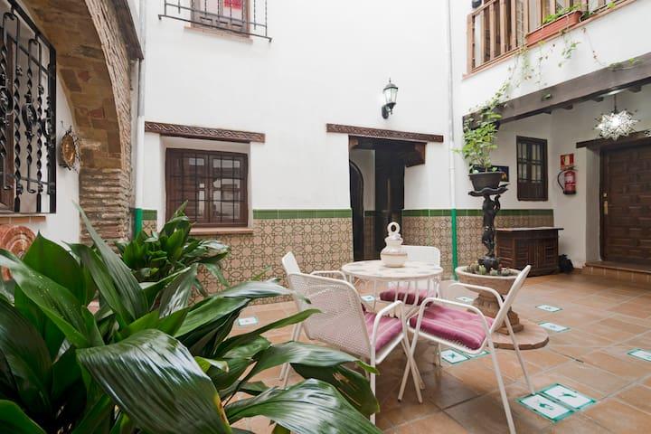 Habitación privada en casa con patio andaluz - Granada - Ev