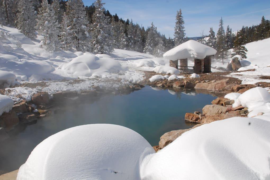 hot springs pool  102 degrees