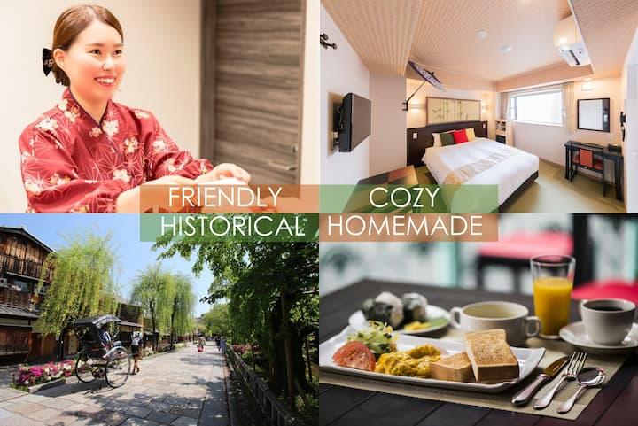 Kyoto INN Gion 17㎡/1 queen bed room/free breakfast