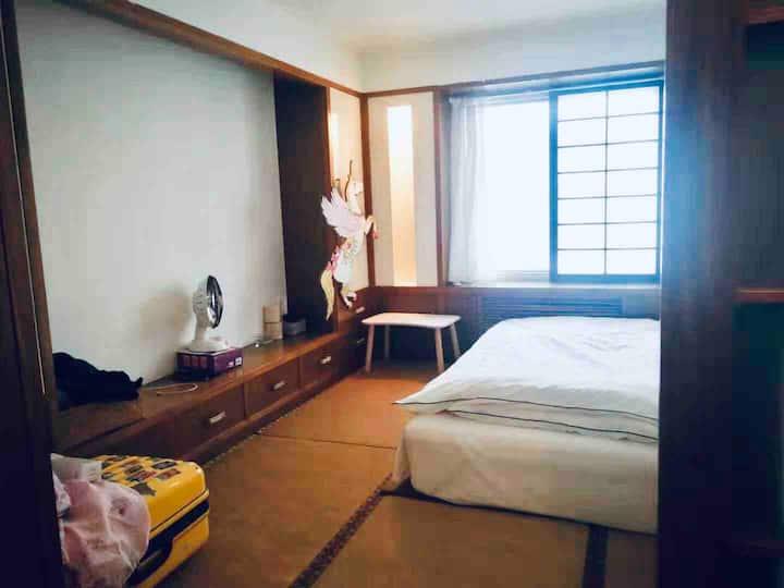 长租15-20%折扣鸟巢国家会议中心中国音乐学院附近cozy榻榻米舒适安全,仅限爱干净的女生!