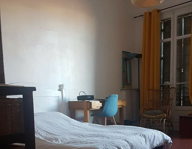 spacious room in classy and central appartment