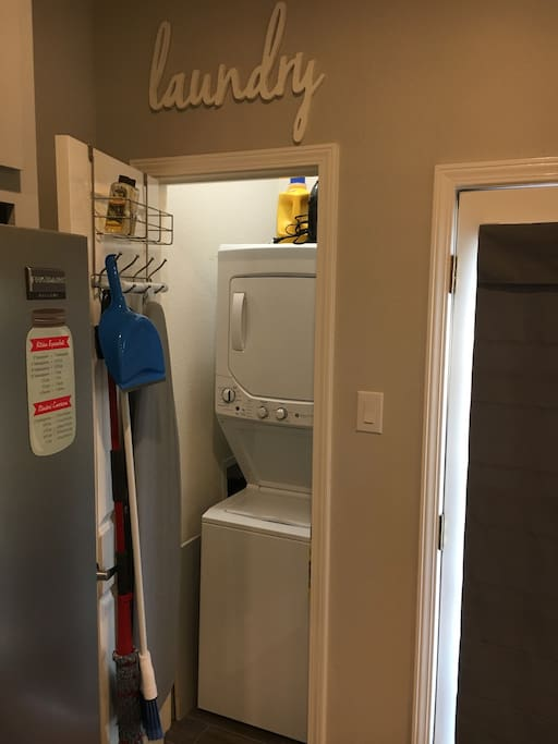 Washer and Dryer accessibility.
