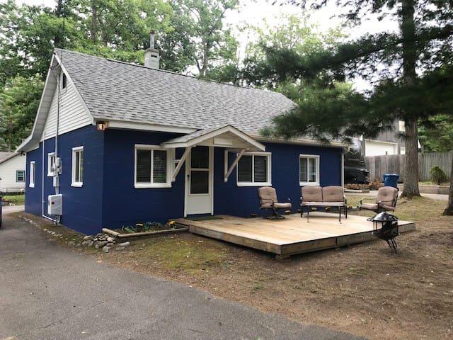 Little Blue House near the lake