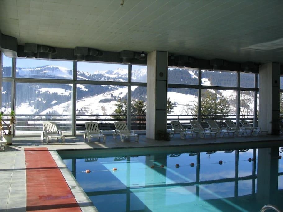 La piscine et sa terrasse avec vue panoramique
