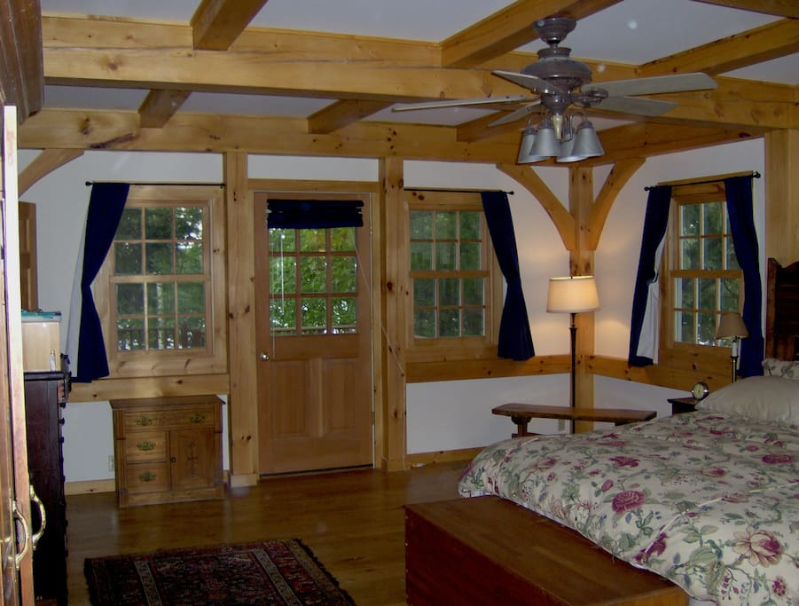 Master Bedroom with large en suite and walk-out to hot tub on deck