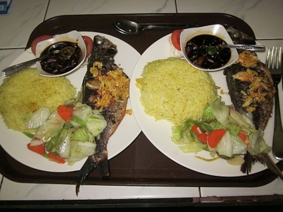 Enjoy locally caught grilled fish